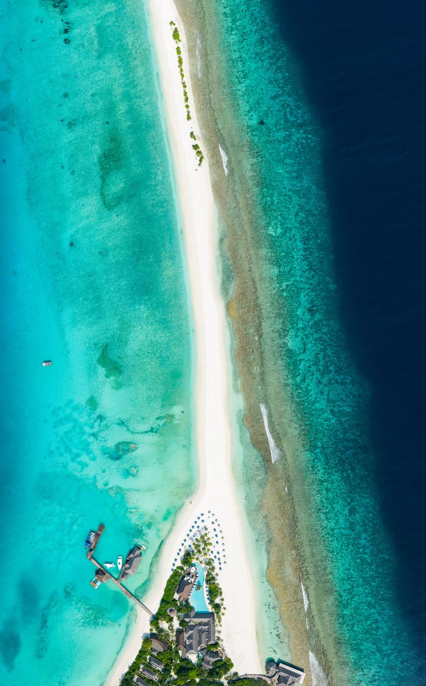 Sandbank des Finolhu aus der Vogelperspektive