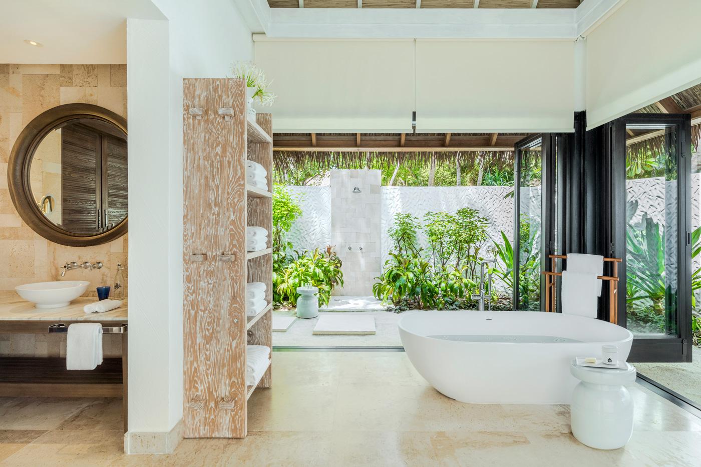 Badezimmer einer Beach Villa