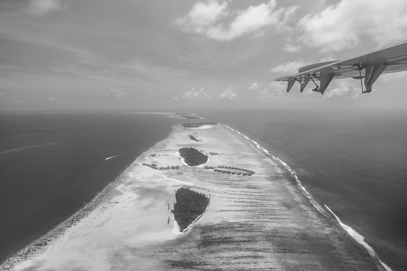 Thaa Atoll aus der Vogelperspektive