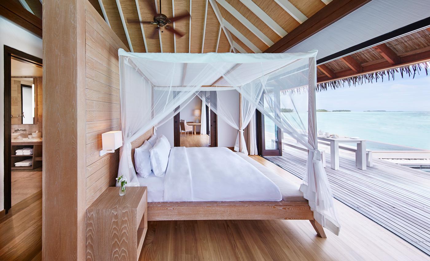 Schlafzimmer einer Water Villa