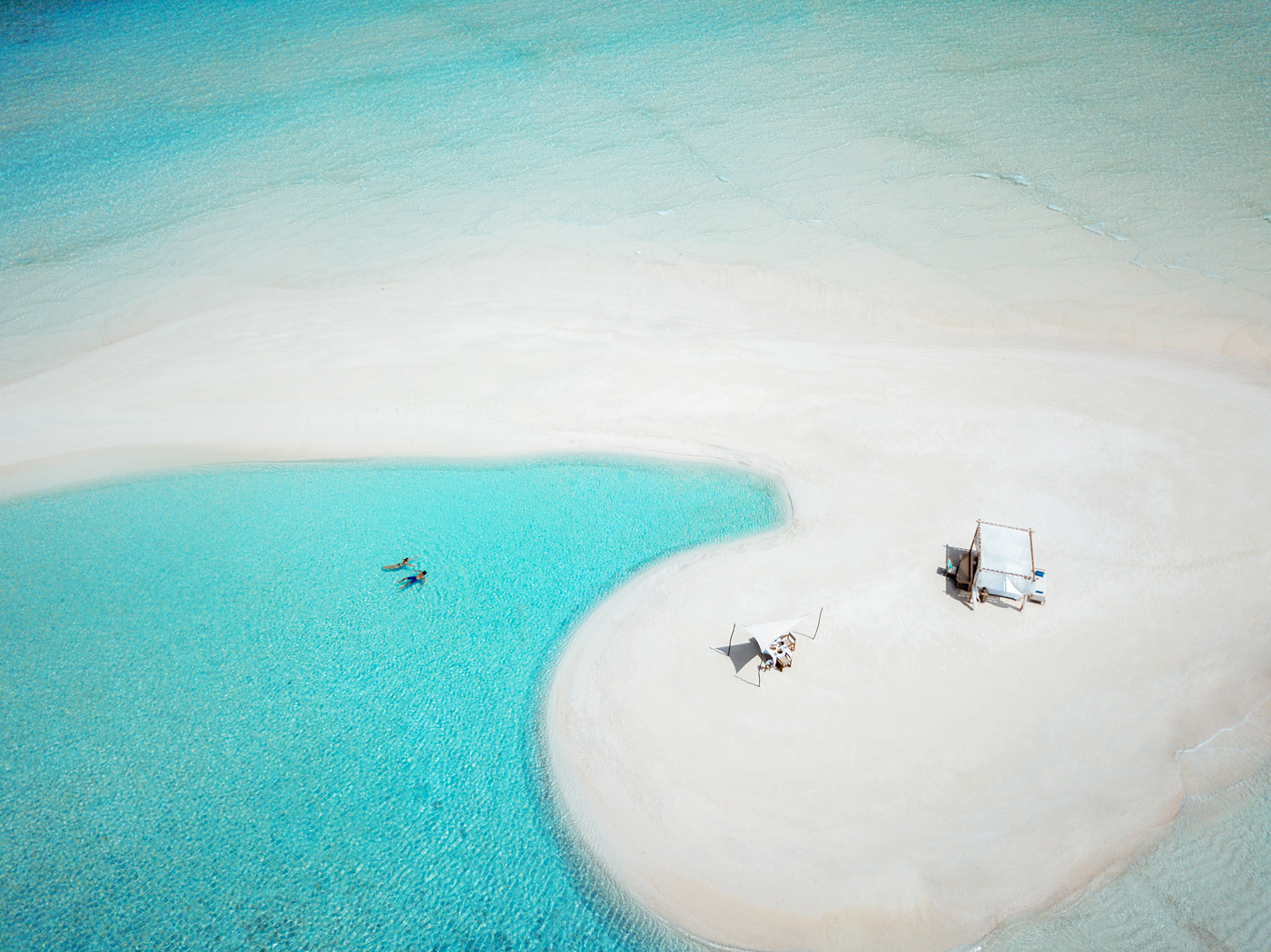 Private Cabana auf Sandbank im Milaidhoo Island