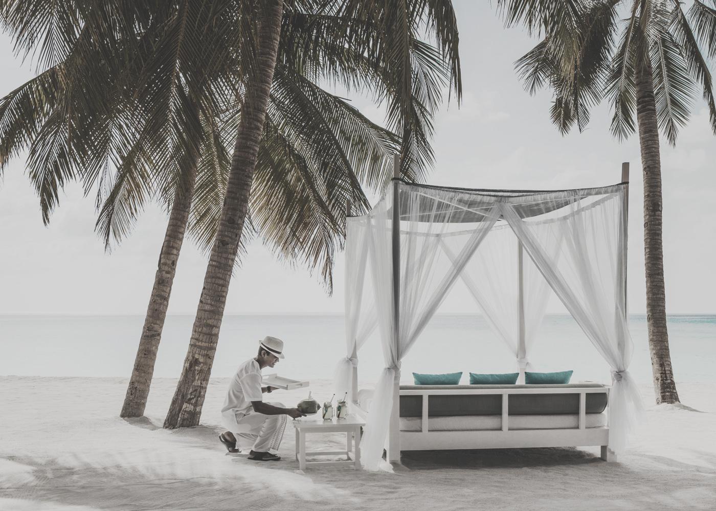 Cabana am Strand des Beach-Clubs
