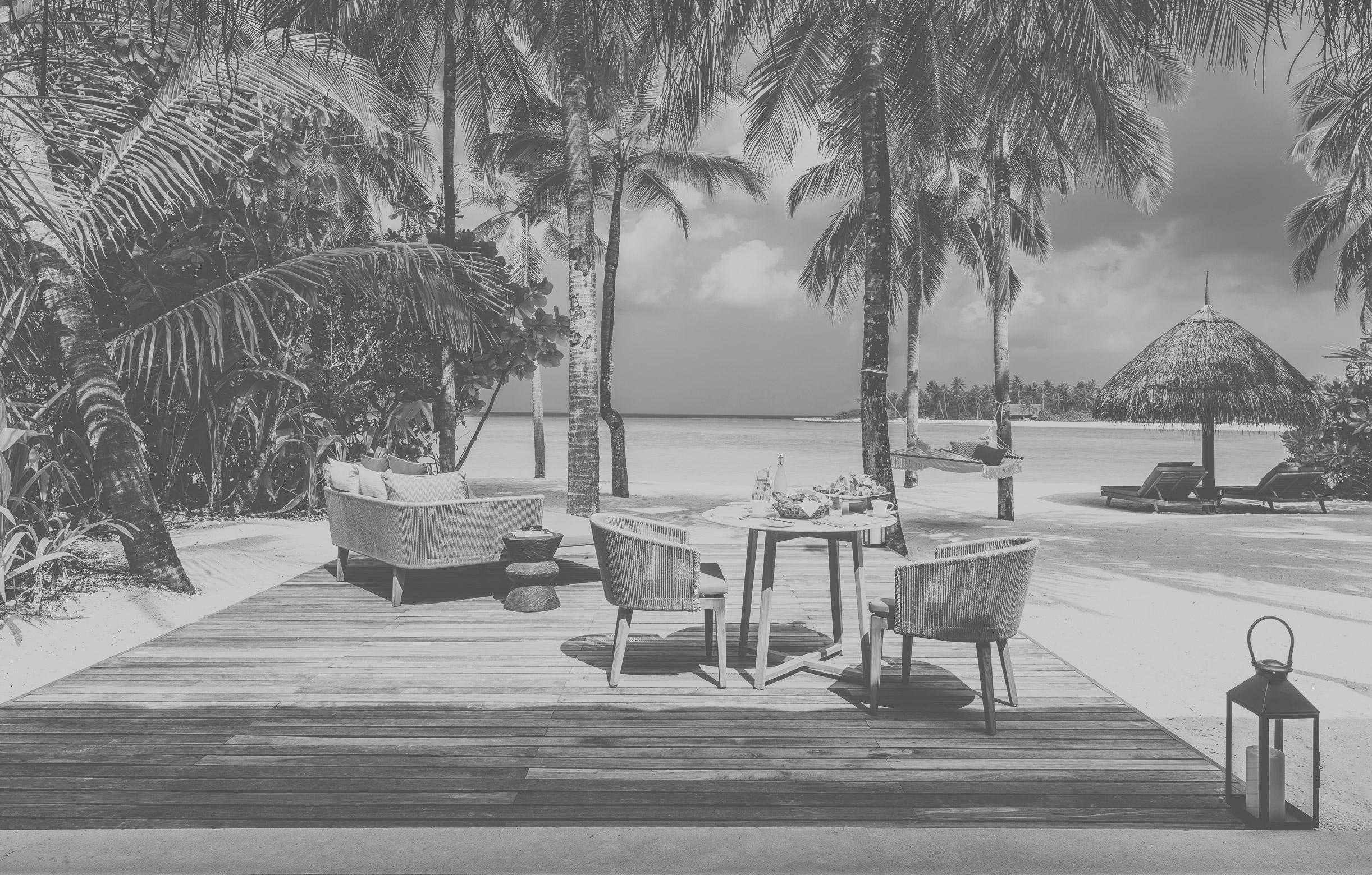 Terrasse einer Beach Villa