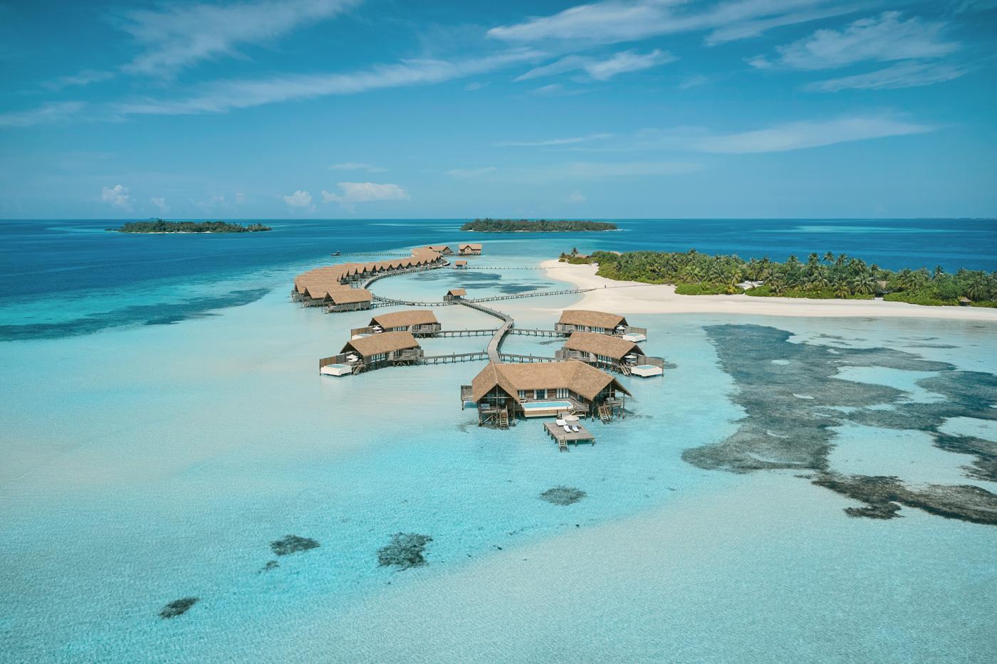COMO Cocoa Island aus der Vogelperspektive