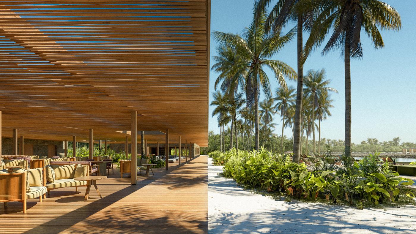 The Portico Restaurant des Patina Maldives Fari Islands