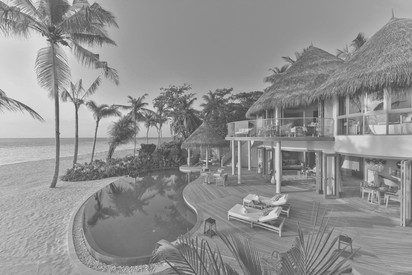Außenansicht einer Beach Villa im The Nautilus
