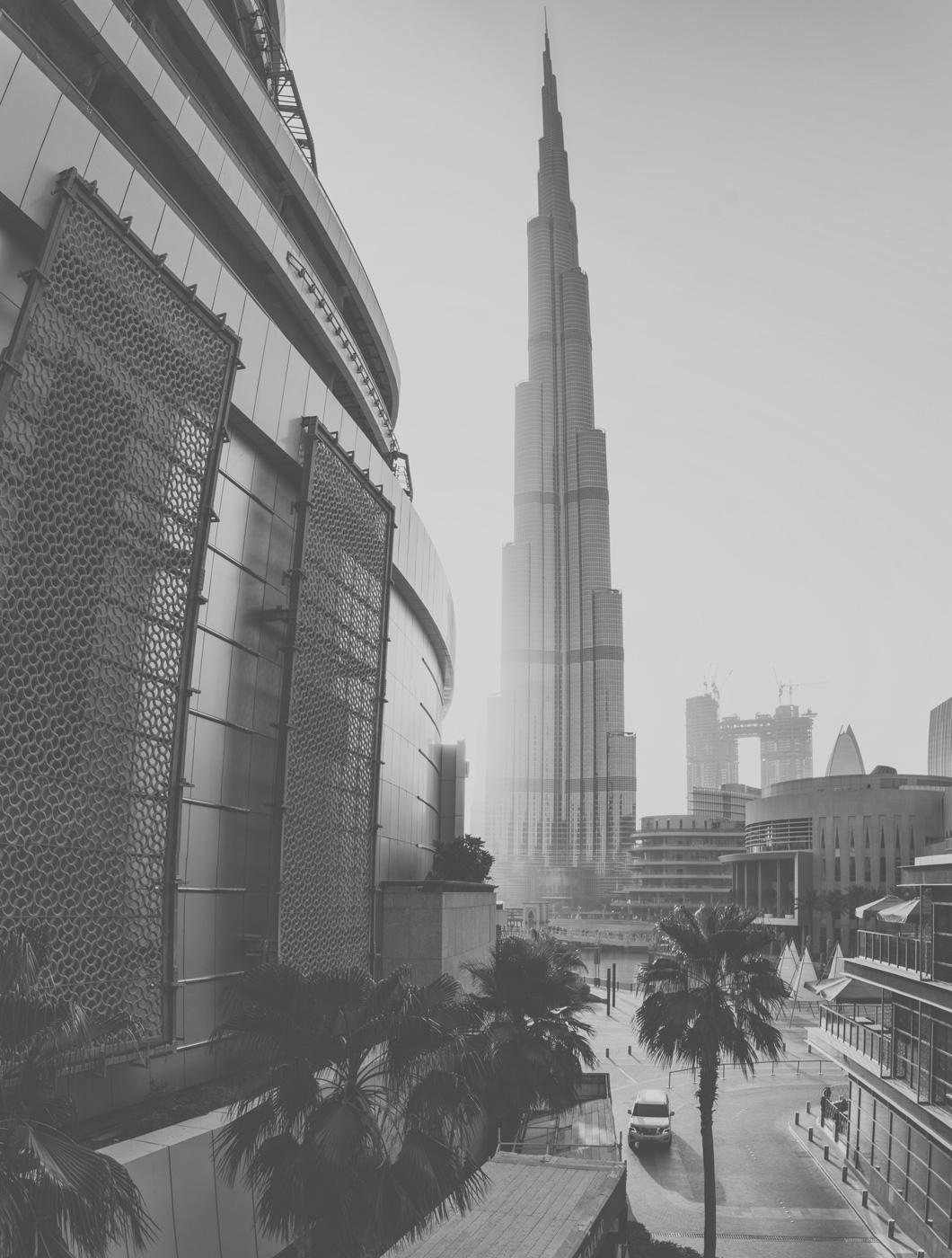 Stadtansicht mit Burj Khalifa in Dubai