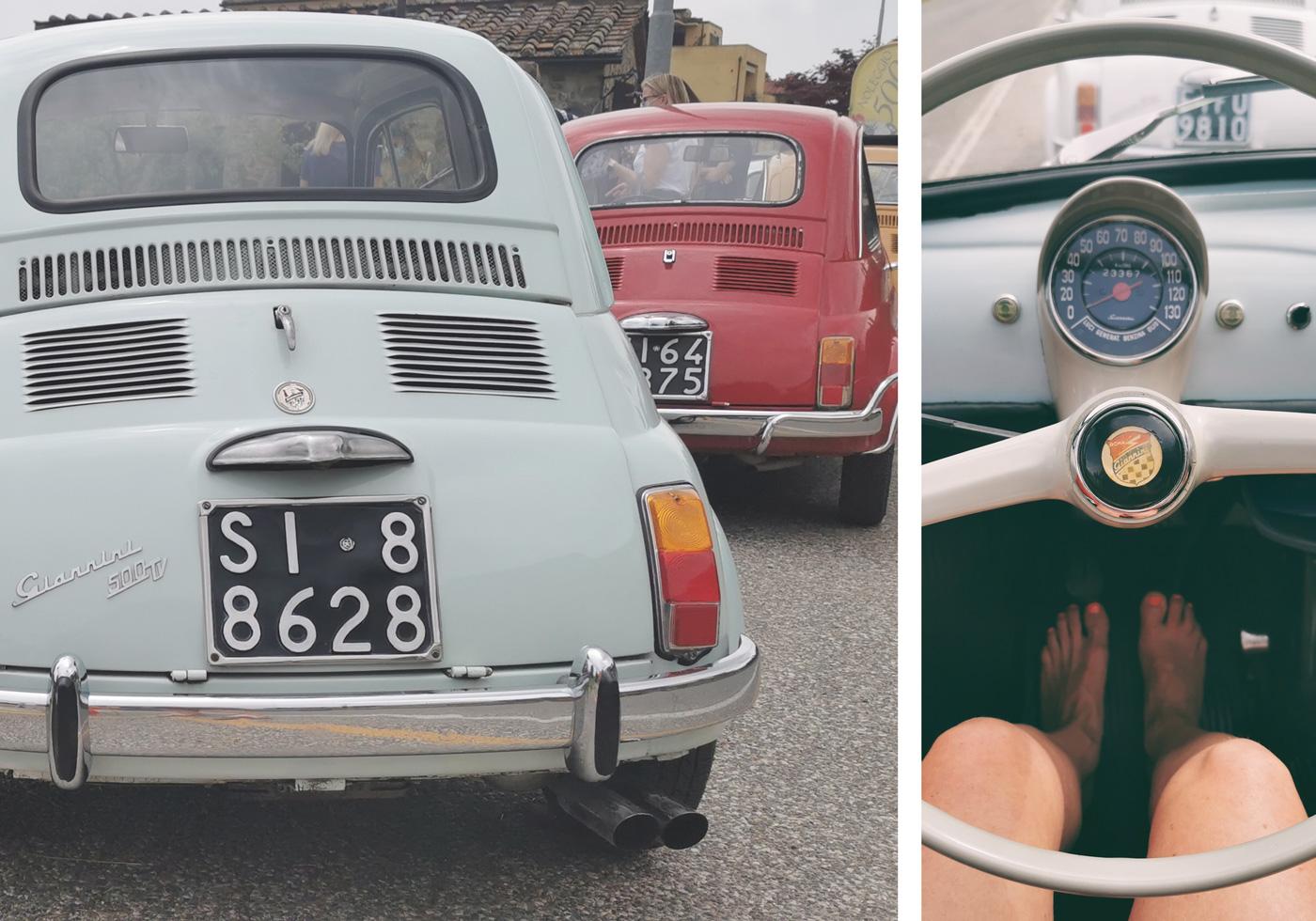 """Fiat 500 """"Giani"""" auf Parkplatz"""