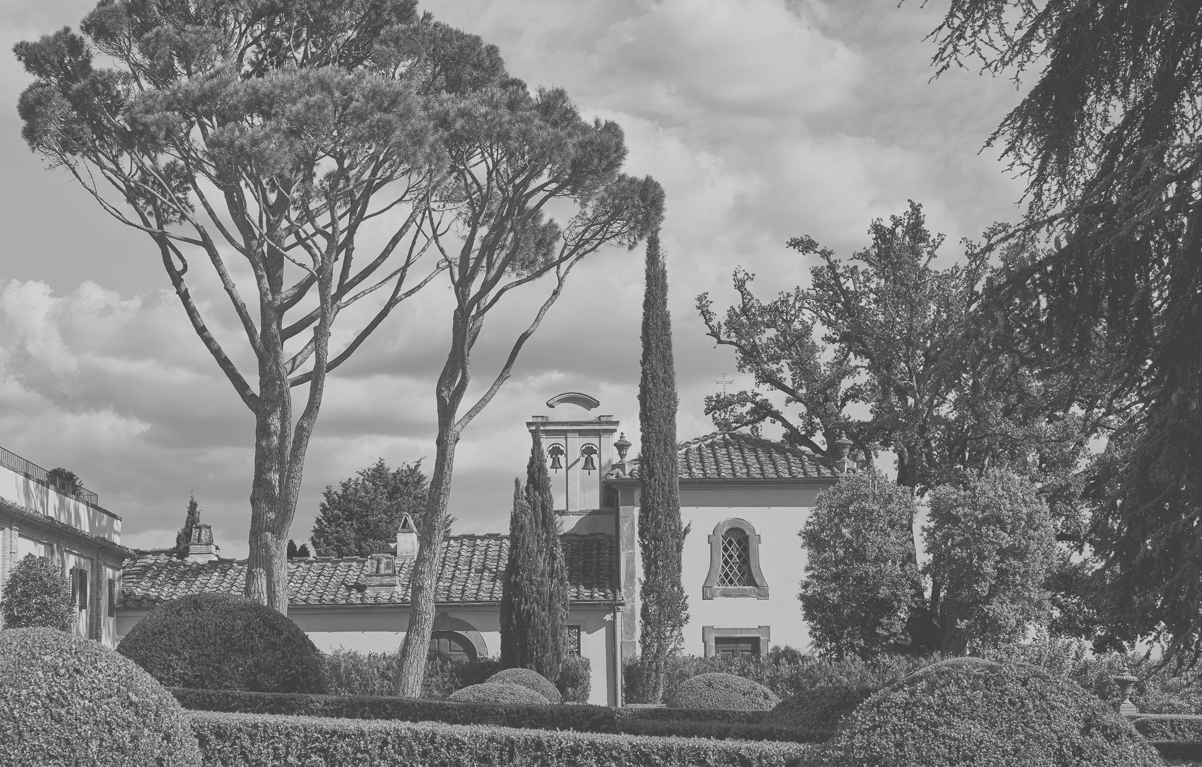 Außenansicht der Kapelle im COMO Castello del Nero