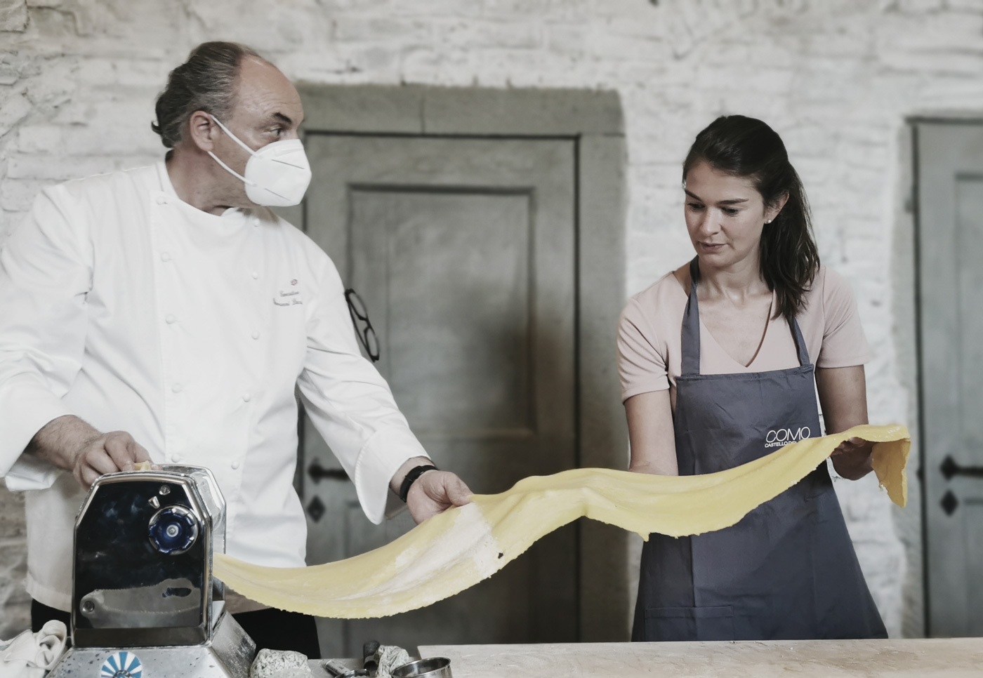 Pasta-Herstellung mit dem Koch Giovanni