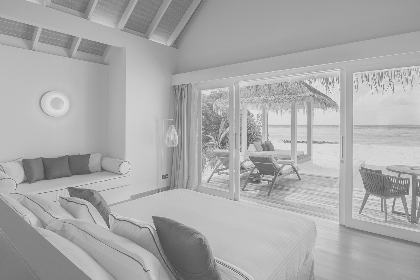 Blick vom Schlafzimmer aufs Meer