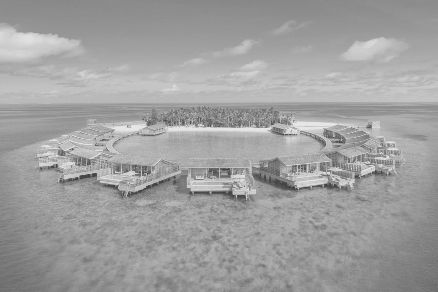 Insel Kudadoo aus Vogelperspektive